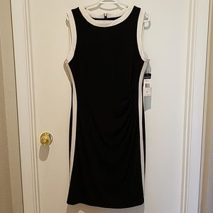 Chaps dress sz XL black & white
